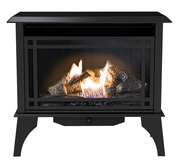 Gas fireplace. Click here for gas appliance heaters